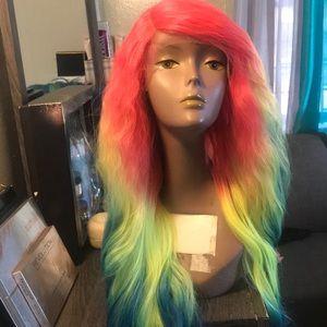 Rainbow wavy wig